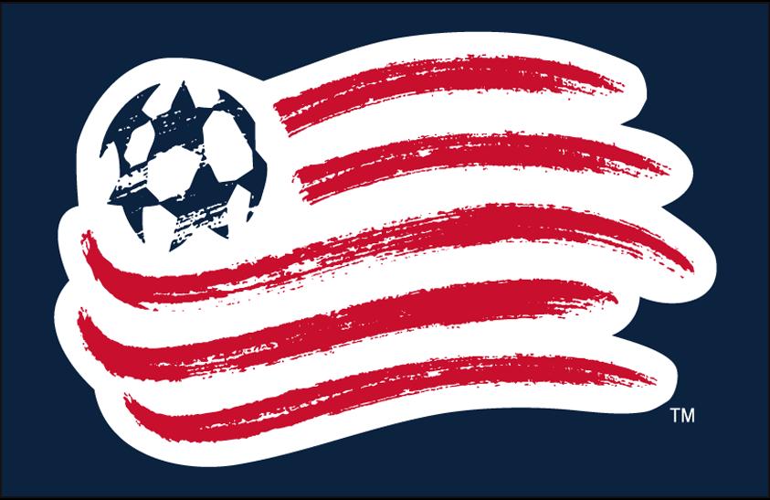 New England Revolution Logo Primary Dark Logo (2009-Pres) - New England Revolution primary logo on blue SportsLogos.Net