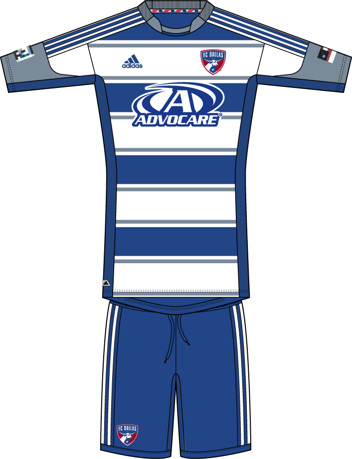FC Dallas Uniform Road Uniform (2012-2013) -  SportsLogos.Net