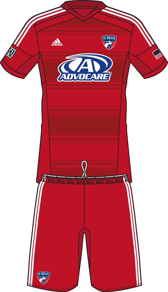 FC Dallas Uniform Home Uniform (2014-Pres) -  SportsLogos.Net