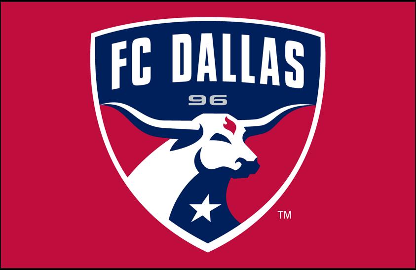 FC Dallas Logo Primary Dark Logo (2005-Pres) - FC Dallas primary logo on red SportsLogos.Net