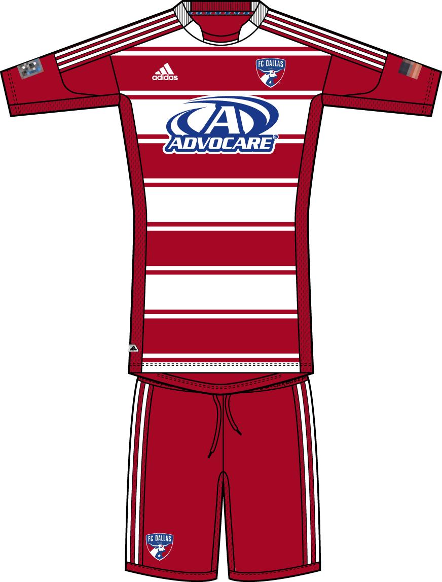 FC Dallas Uniform Home Uniform (2012-2013) -  SportsLogos.Net