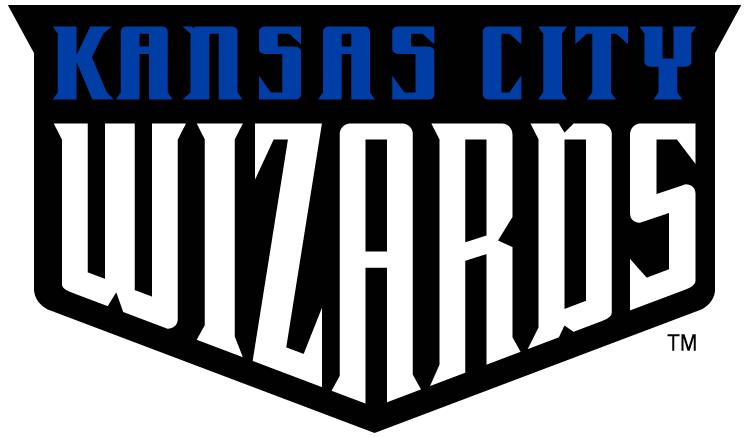 Kansas City Wizards Logo Primary Logo (2007-2010) - Kansas City Wizards on a Black Shield SportsLogos.Net
