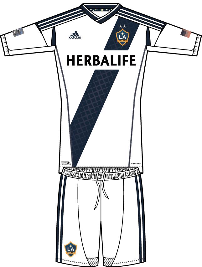 LA Galaxy Uniform Home Uniform (2012-2013) -  SportsLogos.Net