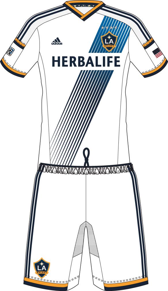 LA Galaxy Uniform Home Uniform (2014-Pres) -  SportsLogos.Net