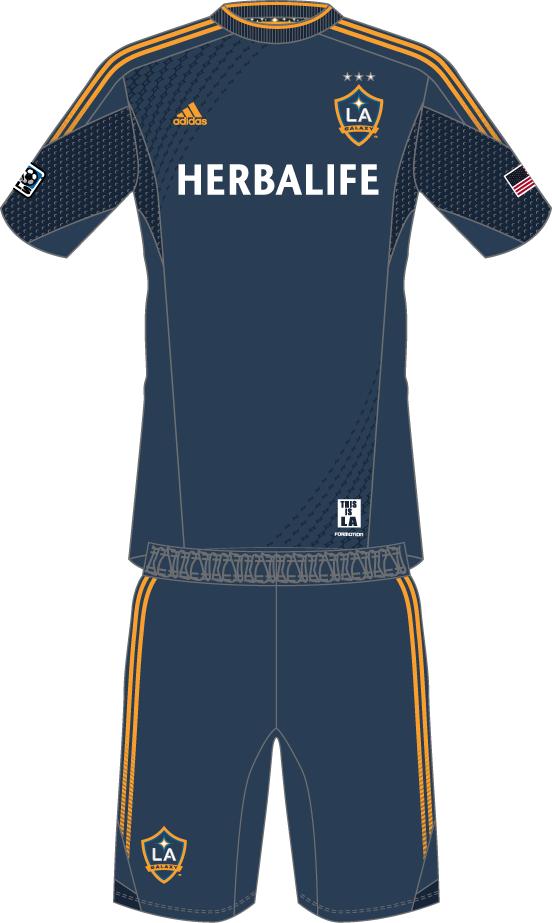 LA Galaxy Uniform Road Uniform (2014-Pres) -  SportsLogos.Net