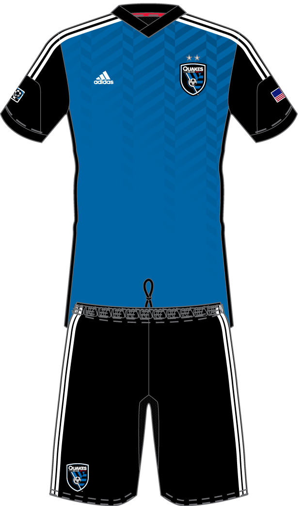 San Jose Earthquakes Uniform Home Uniform (2014-Pres) -  SportsLogos.Net