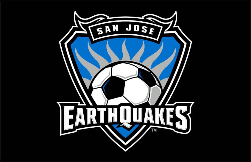 San Jose Earthquakes Logo Primary Dark Logo (2008-2013) - San Jose Earthquakes primary logo on black SportsLogos.Net
