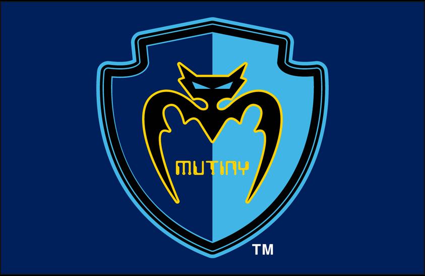 Tampa Bay Mutiny Logo Primary Dark Logo (1996-1999) - Tampa Bay Mutiny primary logo on dark blue SportsLogos.Net