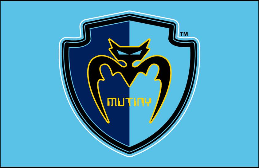 Tampa Bay Mutiny Logo Primary Dark Logo (2000-2001) - Tampa Bay Mutiny primary logo on light blue SportsLogos.Net