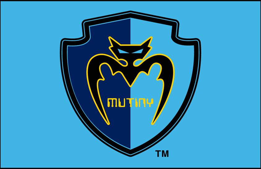 Tampa Bay Mutiny Logo Primary Dark Logo (1996-1999) - Tampa Bay Mutiny primary logo on light blue SportsLogos.Net
