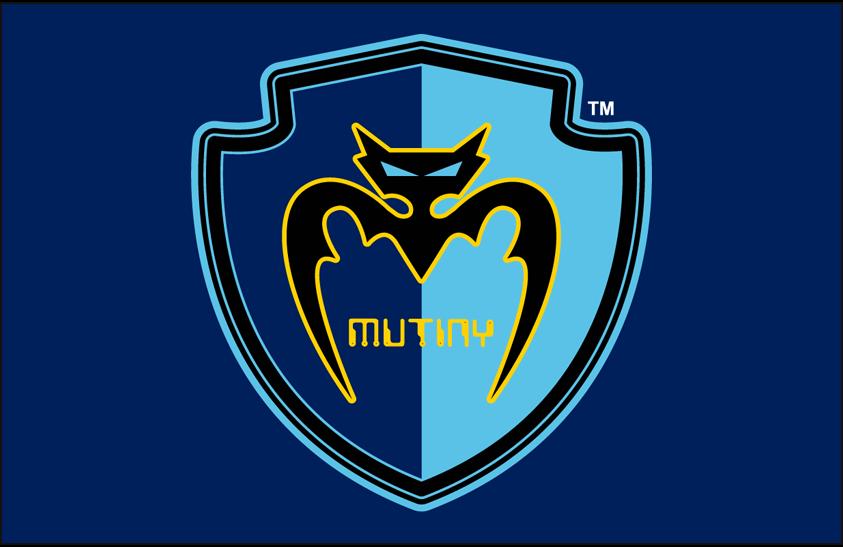 Tampa Bay Mutiny Logo Primary Dark Logo (2000-2001) - Tampa Bay Mutiny primary logo on dark blue SportsLogos.Net