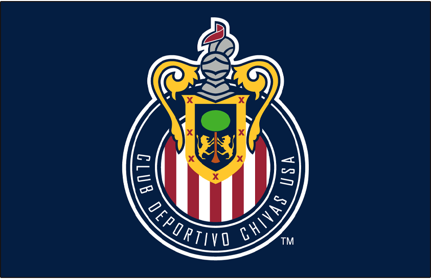 Chivas  USA Logo Primary Dark Logo (2006-2014) - Chivas USA primary logo on blue SportsLogos.Net