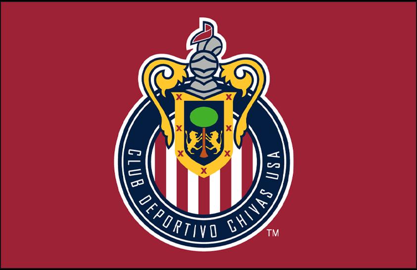 Chivas  USA Logo Primary Dark Logo (2006-2014) - Chivas USA primary logo on red SportsLogos.Net