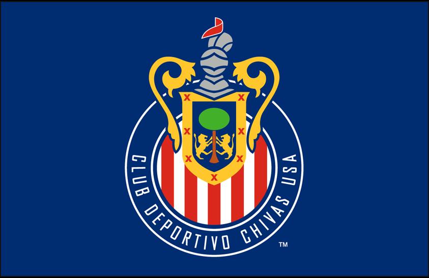 Chivas  USA Logo Primary Dark Logo (2005) - Chivas USA primary logo on blue SportsLogos.Net