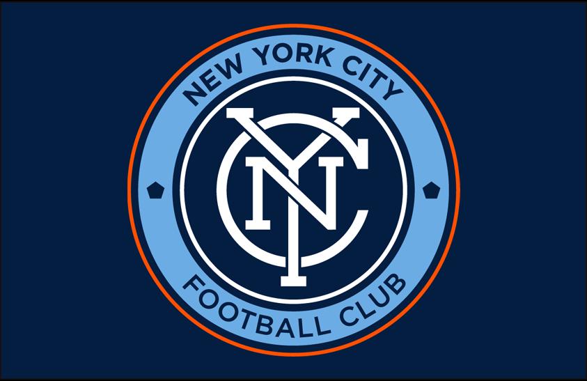 New York City  FC Logo Primary Dark Logo (2015-Pres) - NYCFC primary logo on dark blue SportsLogos.Net
