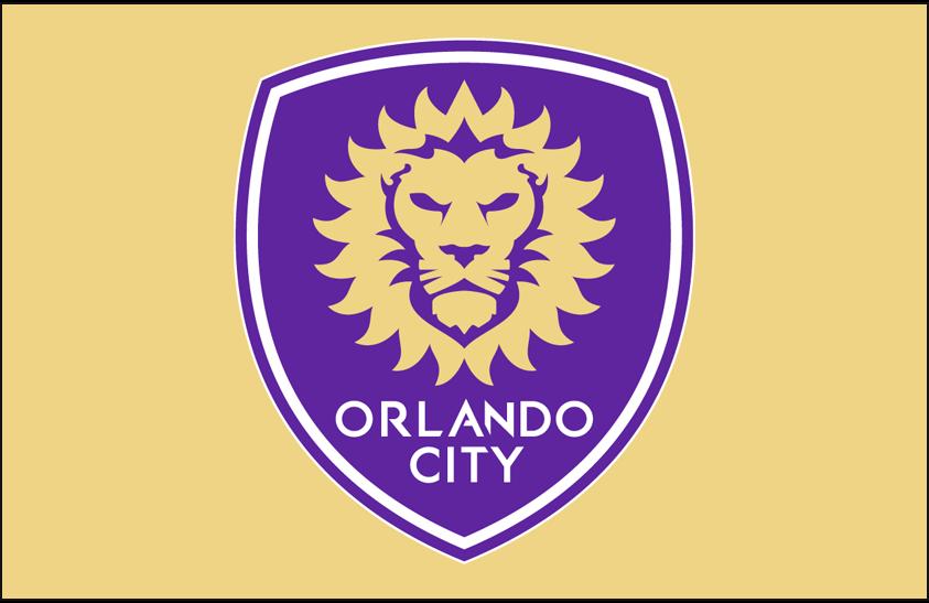 Orlando City SC Logo Primary Dark Logo (2015-Pres) - Orlando City SC primary logo on gold SportsLogos.Net