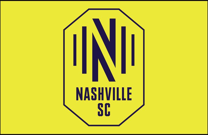 Nashville SC  Logo Primary Dark Logo (2020-Pres) - Nashville SC primary logo on yellow SportsLogos.Net