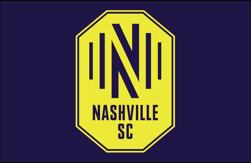Nashville SC  Logo Primary Dark Logo (2020-Pres) - Nashville SC primary logo on blue SportsLogos.Net