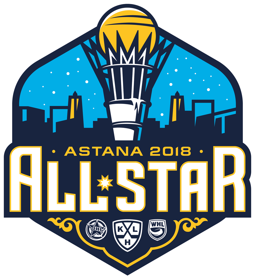 KHL All-Star Game Logo Primary Logo (2017/18) - 2018 KHL All-Star Game logo, game played at Barys Arena in Astana, Kazakhstan on January 10, 2018  Матч всех звёзд Континентальной хоккейной лиги SportsLogos.Net