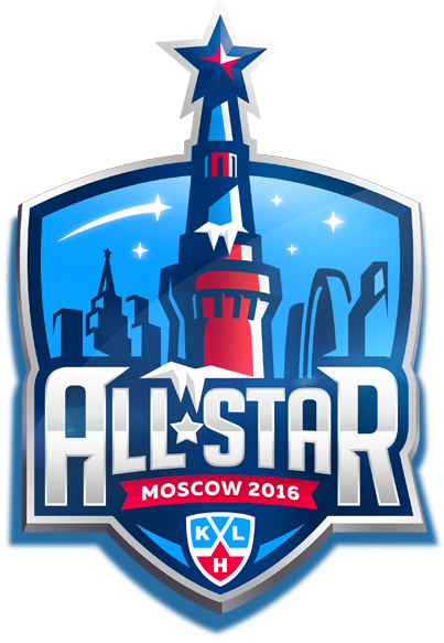 KHL All-Star Game Logo Primary Logo (2015/16) - 2016 KHL All-Star Game logo, game played at the VTB Ice Palace in Moscow, Russia on January 23, 2016 Матч всех звёзд Континентальной хоккейной лиги SportsLogos.Net