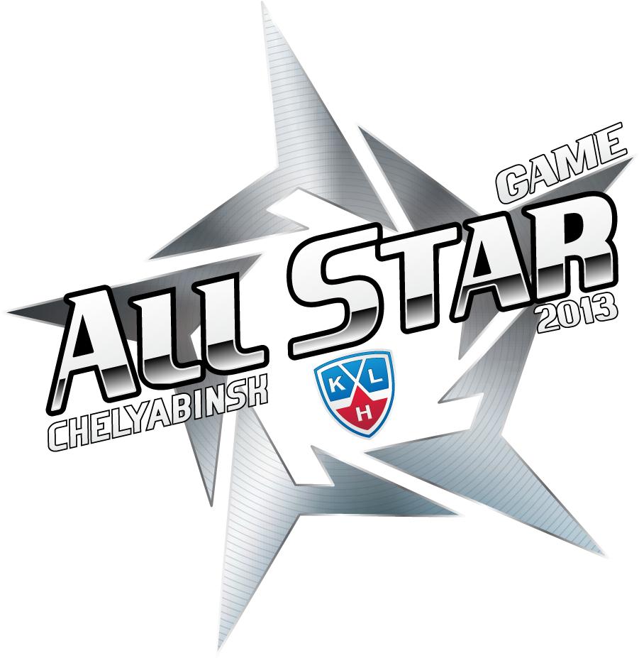 KHL All-Star Game Logo Primary Logo (2012/13) - 2013 KHL All-Star Game logo, game played at the Traktor Sport Palace in Chelyabinsk, Russia on January 13, 2013 Матч всех звёзд Континентальной хоккейной лиги SportsLogos.Net