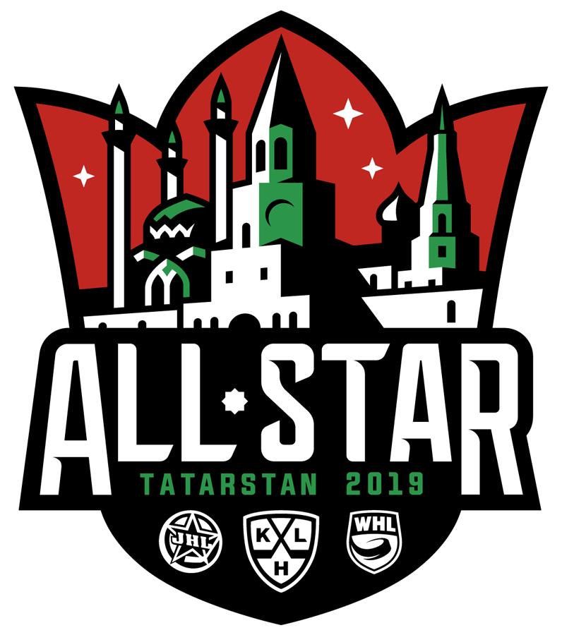 KHL All-Star Game Logo Primary Logo (2018/19) - 2019 KHL All-Star Game in Tatarstan, Russia - hosted by Neftekhimik Nizhnekamsk. Game played on January 20, 2019 SportsLogos.Net