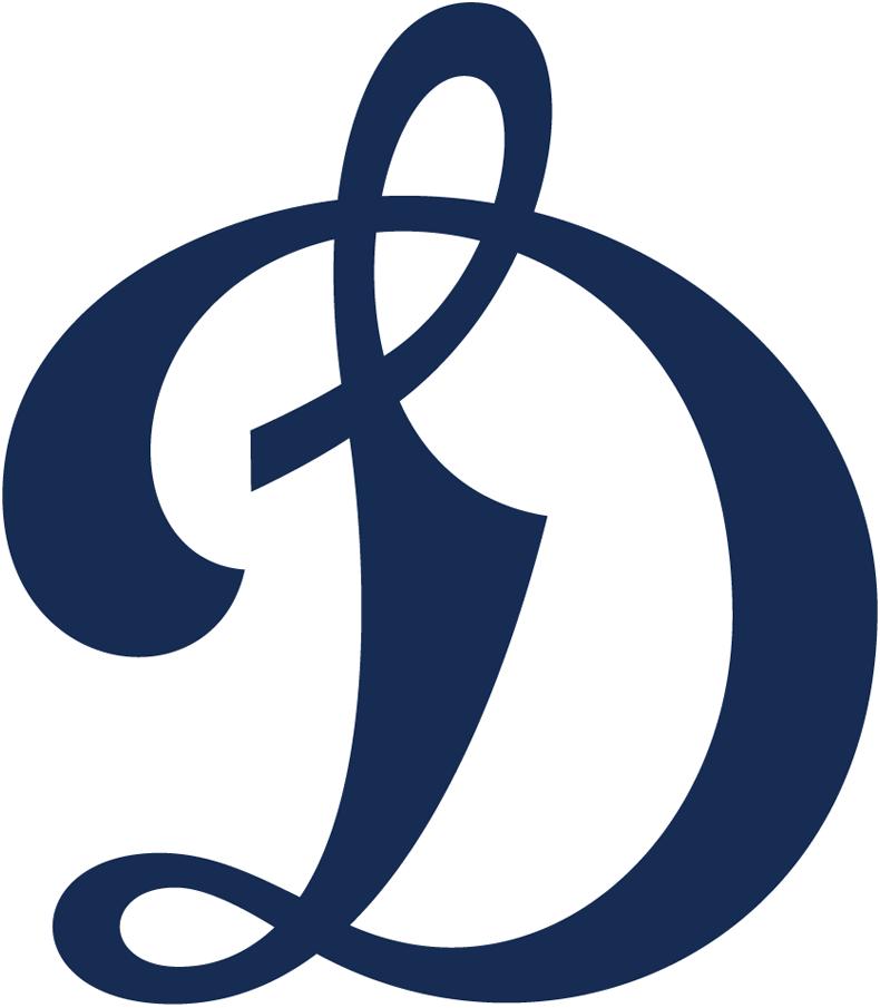 HC Dynamo Moscow Logo Primary Logo (2017/18-Pres) - A navy blue scripted D SportsLogos.Net