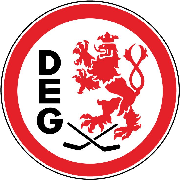 Dusseldorfer EG Logo Primary Logo (1994-2001) - The club was founded on November 8, 1935 as Düsseldorfer Eislauf Gemeinschaft (DEG) and was renamed DEG Metro Stars on March 1, 2002. SportsLogos.Net