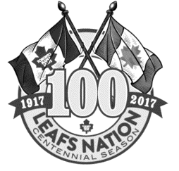 Toronto Maple Leafs Leafs Nation 100th Anniversary Centennial Logo 2017