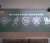 Milwaukee Brewers Miller Park Logo Wall