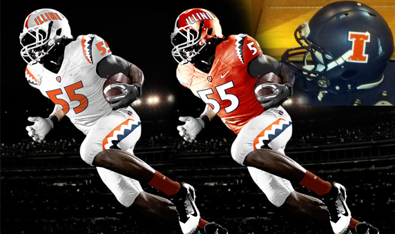 illini, illinois, college football, NCAA, new uniforms, new helmet