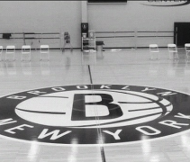 Brooklyn Nets center court logo - practice court