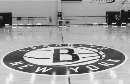 Brooklyn Nets Post Photo of Practice Court