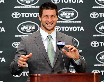 "Tim Tebow Threatens Makers of ""Jets-Jesus"" Parody"