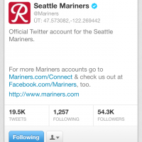 Seattle Mariners Seattle Rainiers Twitter Account