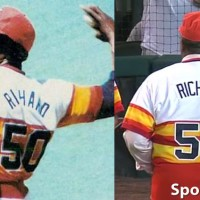 Comparing Houston Astros 1978 uniform with 2012 throwback, numbers