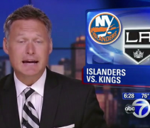 WABC New York News Shows Islanders Logo instead of Devils