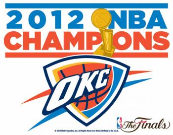Oklahoma City Thunder 2012 NBA Champions Merchandise
