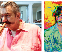 LeRoy Neiman in his Studio in 2007 and Self Portait (Photo: Bebeto Matthews/AP)