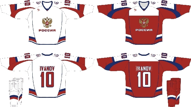 New uniforms for Team Russia Hockey