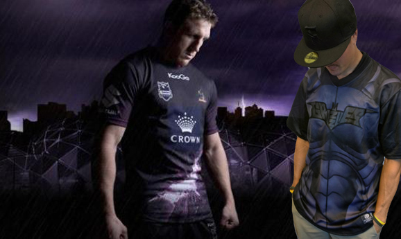 The Dark Knight Rises onto uniforms in MiLB and National Rugby League