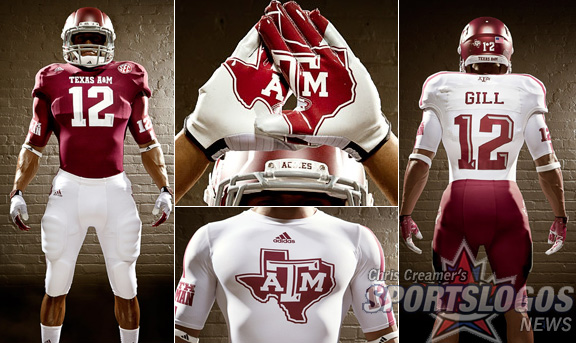 Texas A&M Releases New Adidas Uniforms, Inspired By 1970's Look