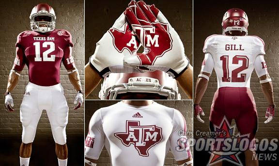 buy online aaacd c5513 Texas AM Aggies new jerseys uniform Adidas display