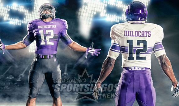 """Northwestern University will """"Reclaim The Stripe"""" with their new 2012 Under Armour uniforms"""