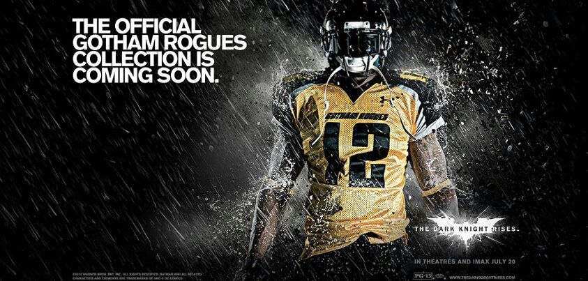 Gotham Rogues Football Team Featured in Batman: Dark Knight Rises Will Have Gear Available