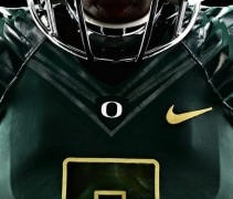 Oregon Ducks 2012 New Uniforms - Dark Green Neck