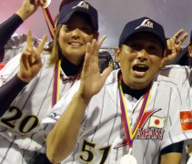 A closer look at Team Japan's uniform and cap, from the 2010 Women's Baseball World Cup