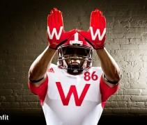 Wisconsin uniforms adidas nebraska with gloves