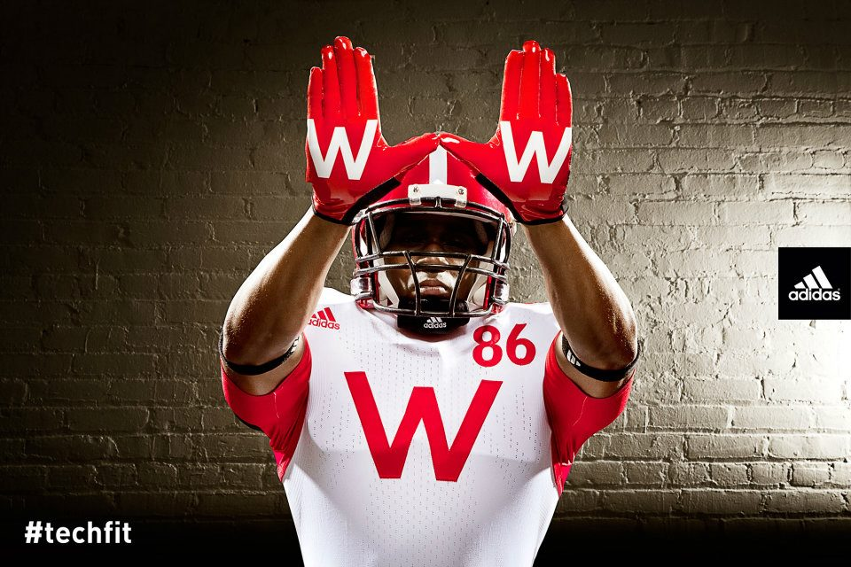 Wisconsin shows their one-use Adidas Uniforms for Nebraska Game