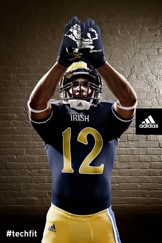 Notre Dame Shamrock Series new uniforms gloves